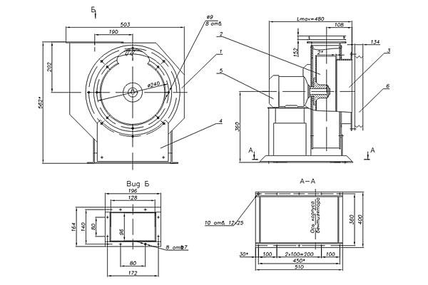 Вентилятор радиальный ВР-196-32.1