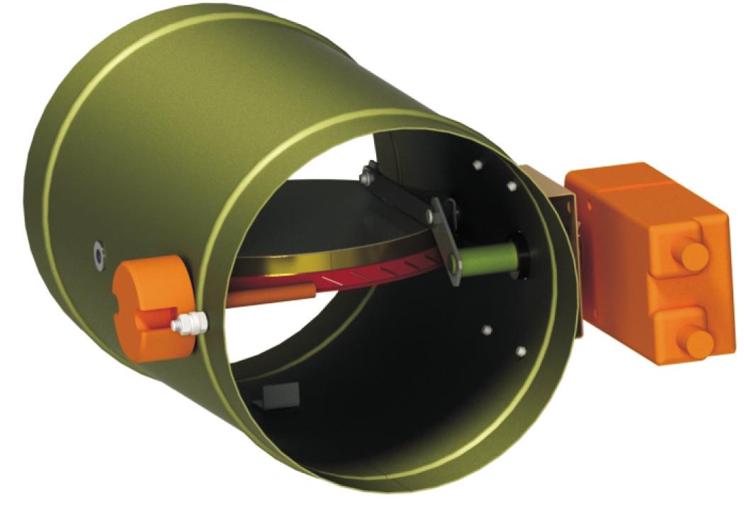 Клапани вогнезатримуючі: КПВ круглого перерізу