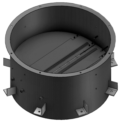 Стакани круглі типу С.034 з клапаном зворотним для монтажу вентиляторів дахових радіальних димовитягування ВДРДВ